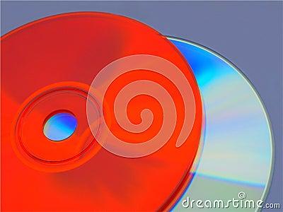 Orange and rainbow cds