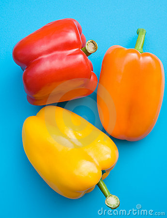 Free Orange, Red And Yellow Sweet Peppers Royalty Free Stock Images - 15281829
