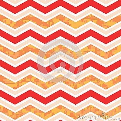 Orange and Red Chevron Camo