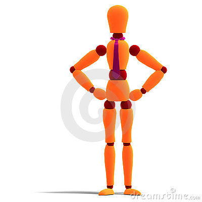 Orange and red manikin