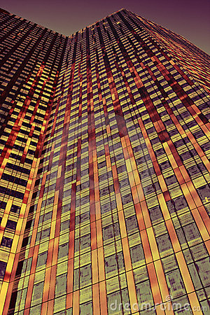 Orange and Red Skyscraper