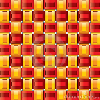 Orange red yellow gingham seamless patterns