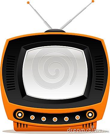 Orange retro tv