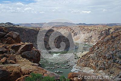 Orange river canyon at Augrabies Falls National Park. Northern Cape, South Africa