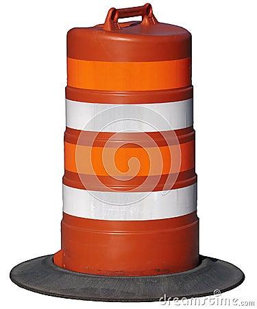 Free Orange Road Construction Barrel Isolated Stock Images - 15197464