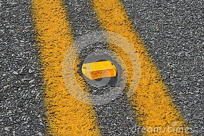 Orange  road  reflector