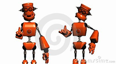 Orange robots