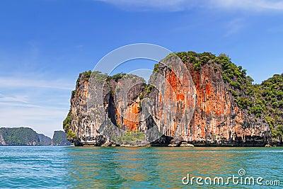 Orange rocks of Phang Nga National Park