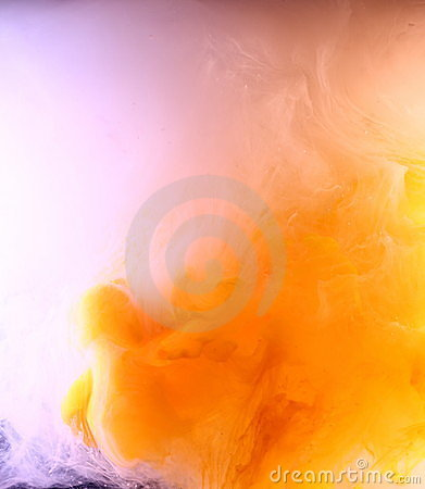Orange and rose paint cloud