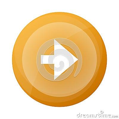 Free Orange Round Button With Next Arrow Symbol Stock Photos - 107105233