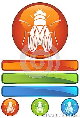 Orange Round Icon - Fly