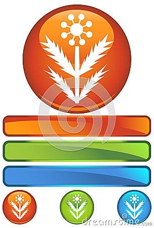Orange Round Icon - Weed