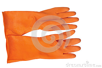 Orange Rubber Glove