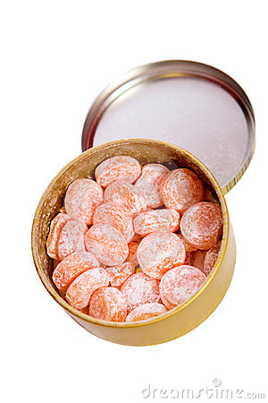 Orange Süßigkeiten