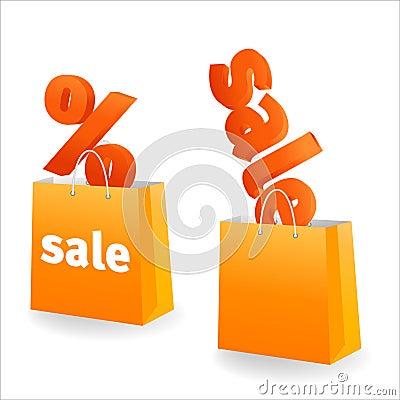 Orange sale banner