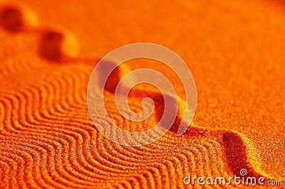 Orange sand waves