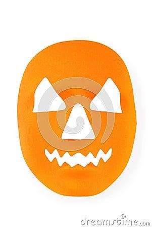 Orange scary halloween mask