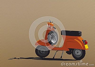 Orange Scooter Illustration