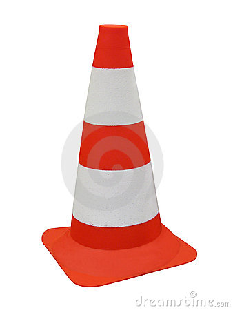 Free Orange Security Road Barrier Sign Isolated, Royalty Free Stock Photo - 11831795