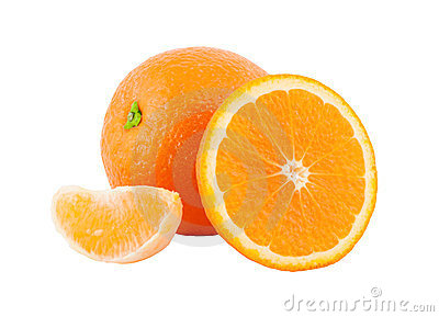 Orange with segments.