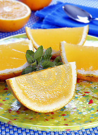 Free Orange Shape Jelly Dessert Royalty Free Stock Images - 17013909