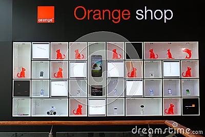 Orange shop Editorial Image