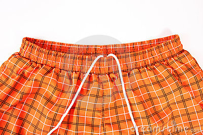 Orange shorts detail