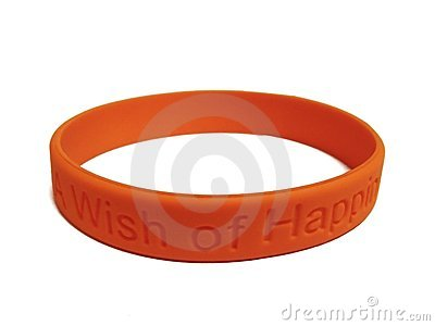 Orange silicone  wristband