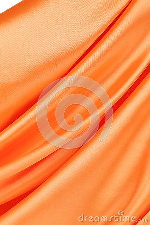 Orange silk background.