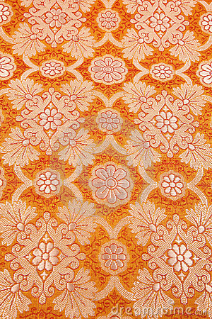 Orange silky background cloth