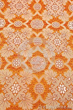 Orange silky background cloth