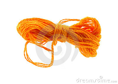 Orange six strand floss