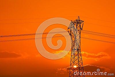 Orange sky in the evening
