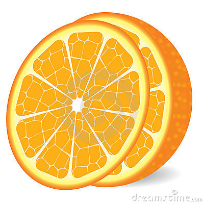 Orange with slice