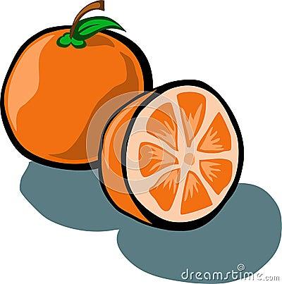 Orange And Slice Stock Vector - Image: 48877170