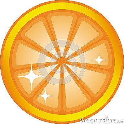 Orange slice (Vector)