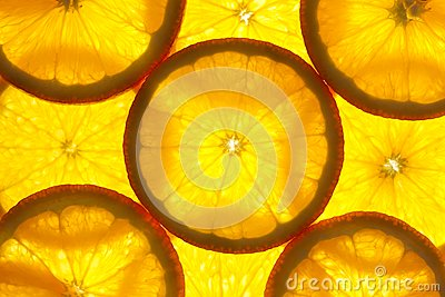 Orange slices background / macro