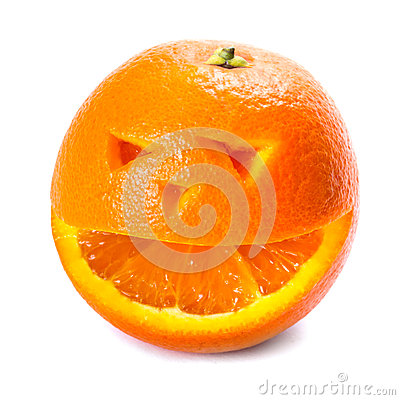 An Orange with smiley face