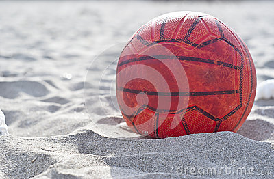 Orange soccer ball