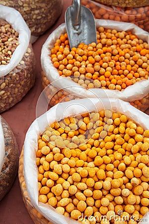 Orange soya beans