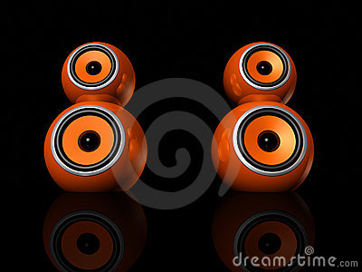 Orange speaker balls