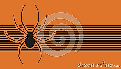 Orange spider banner