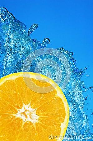 Free Orange Splash Royalty Free Stock Photography - 1352007