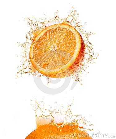 Orange splash drink
