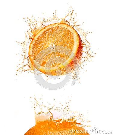 Orange splash drink