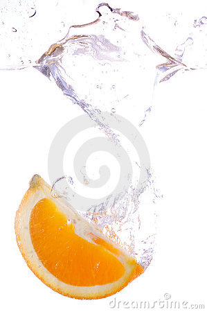 Orange splashing