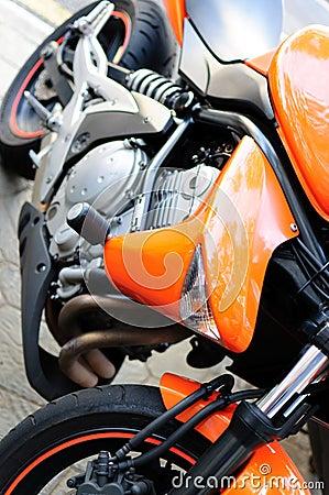 Orange sport bike