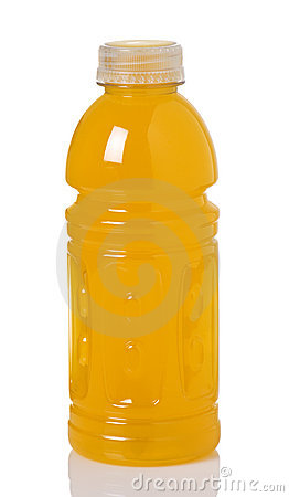 Orange Sport Drink In Bottle