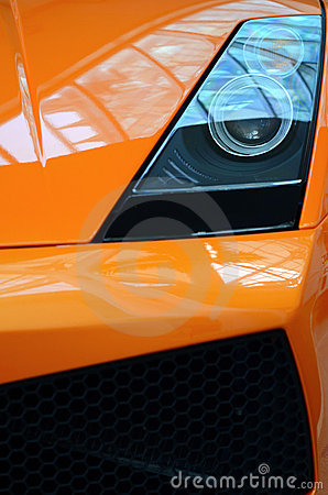 Orange Sports Car Detail