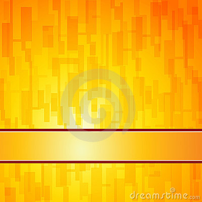 Orange squares retro background